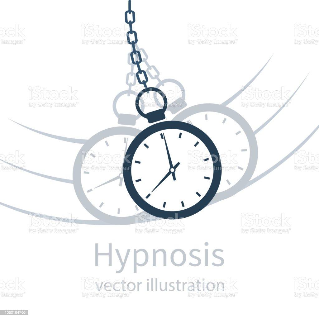 Hypnosis icon concept black silhouette vector art illustration
