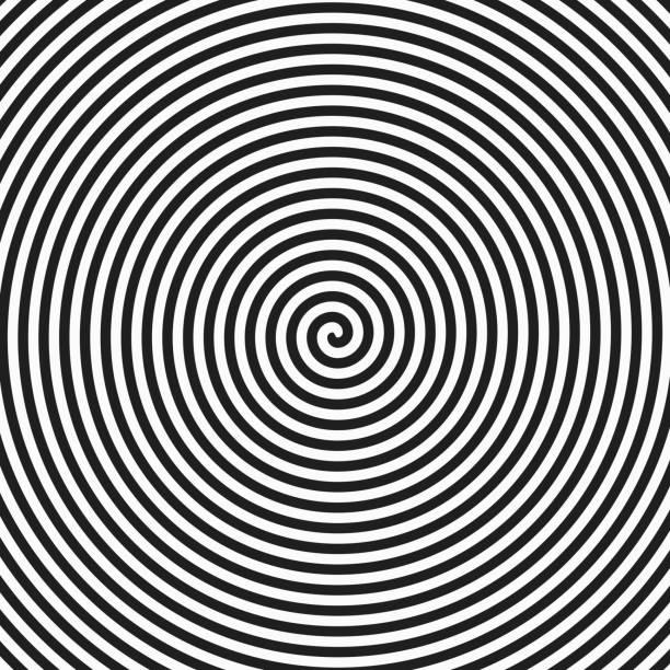 hypnosis spiral - spiral stock illustrations, clip art, cartoons, & icons