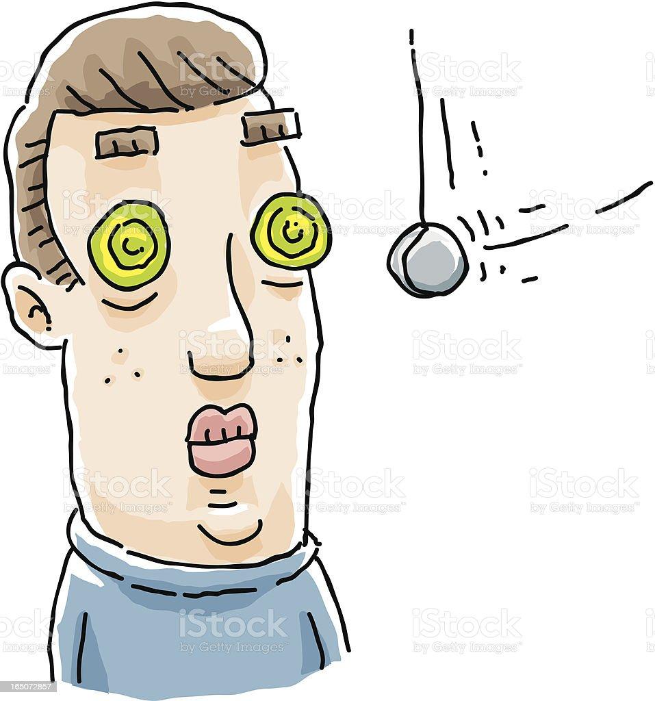 Hypnosis royalty-free stock vector art
