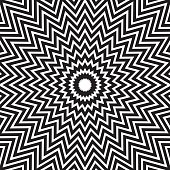 Vector Illustration of a Black and white Hypnotic Concentric Abstract Lines