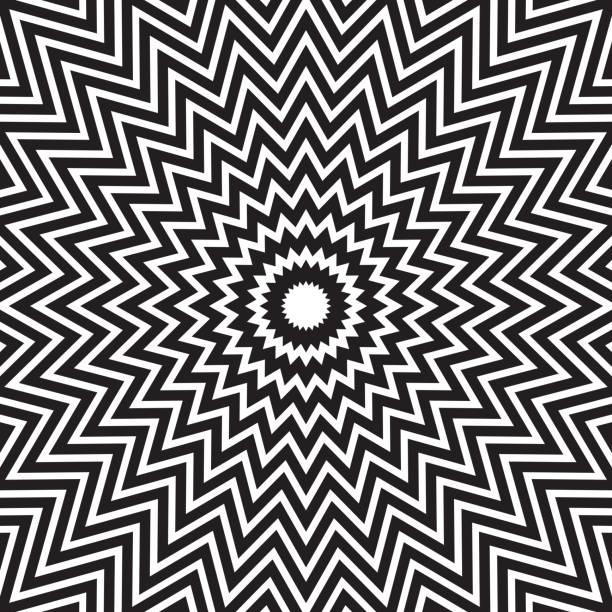 ilustrações, clipart, desenhos animados e ícones de linhas abstratas concêntricas hipnóticas - texturas de riscos