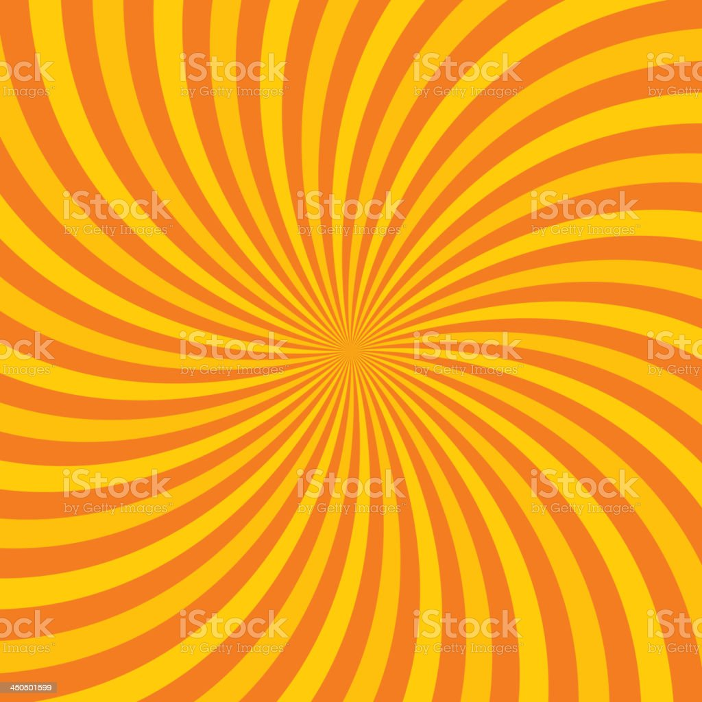 Hypnotic orange vector illustrated background vector art illustration