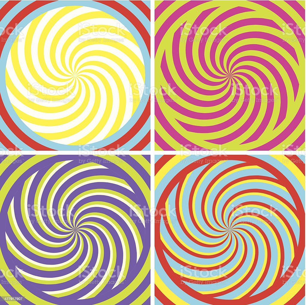 hypnotic Poster royalty-free stock vector art
