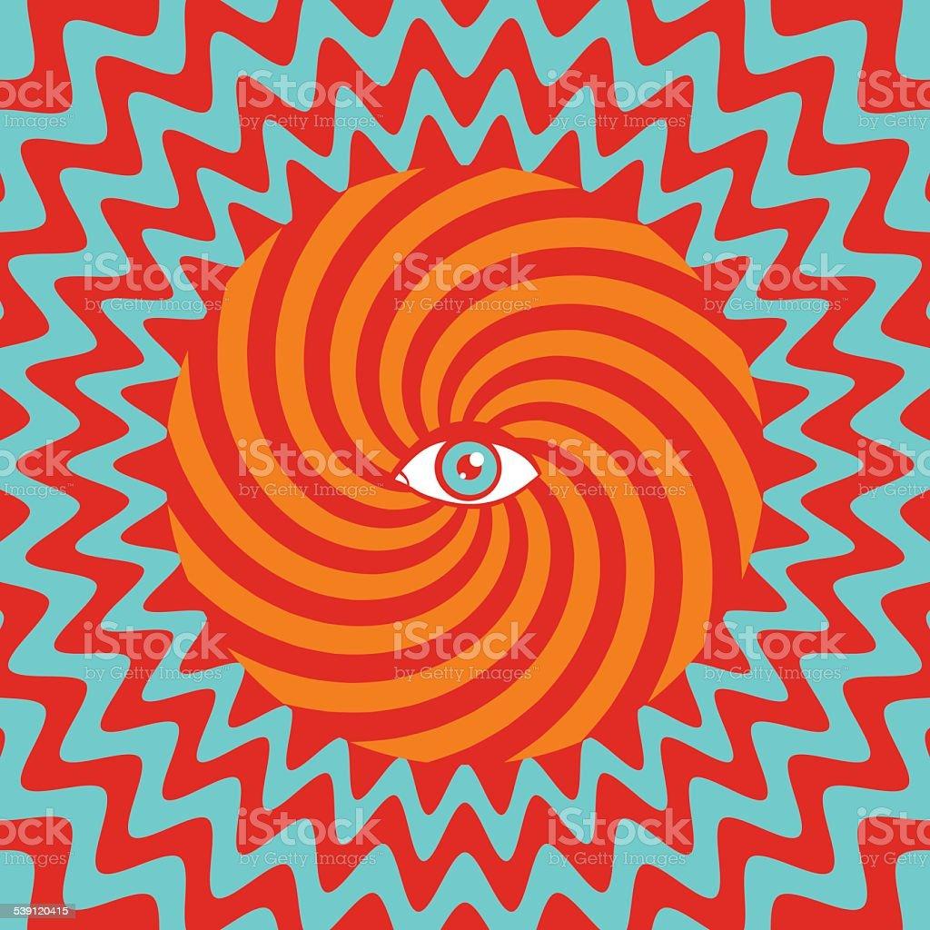 Hypnotische poster – Vektorgrafik
