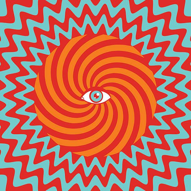 Hypnotic poster vector art illustration