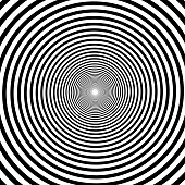 Hypnotic spiral background, vector Volute, spiral, concentric lines, circular, rotating background