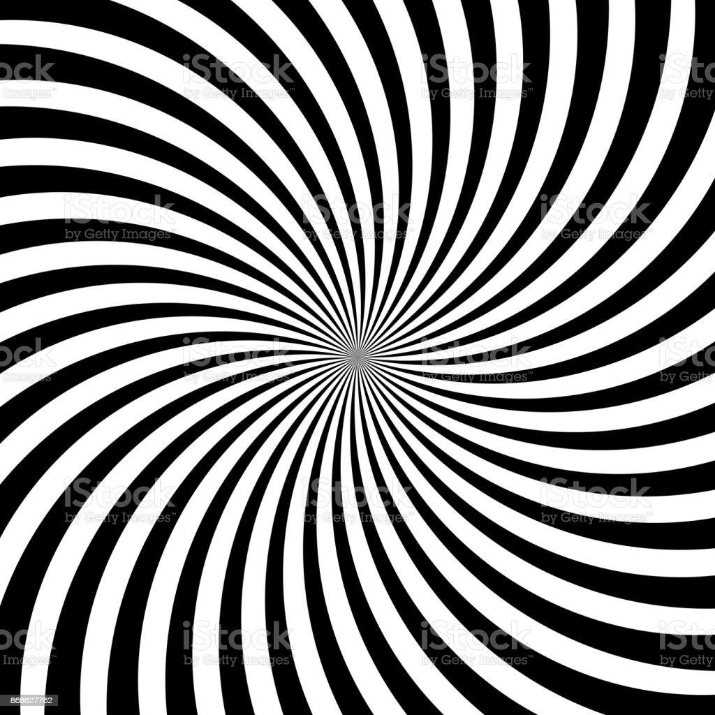 催眠渦巻き線抽象的な白い黒錯視...
