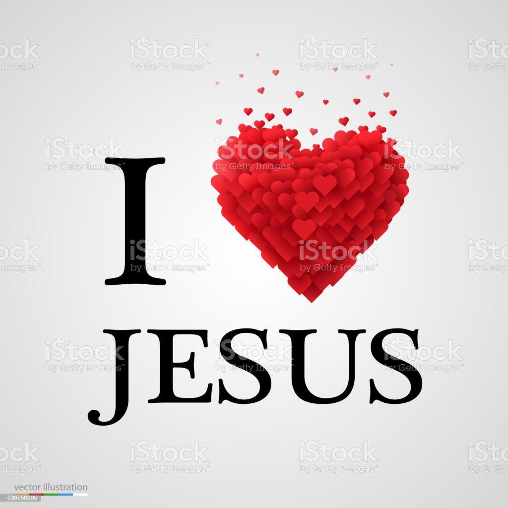 i love Jesus heart sign.