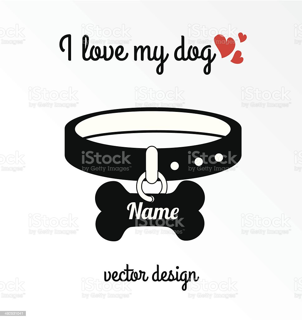 Download I Love My Dog Stock Vector Art & More Images of Animal ...