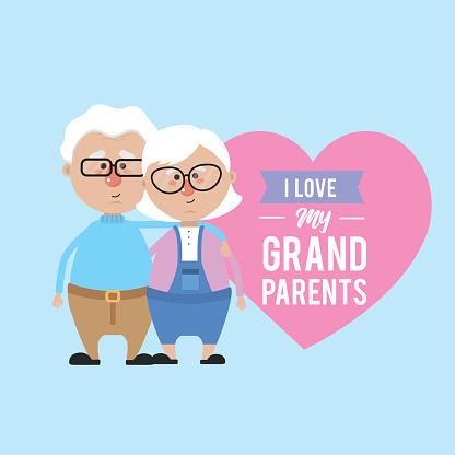 Download I Love My Grandparents Celebration Design Stock ...