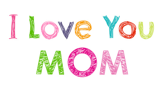 Download I Love You Mom Happy Mothers Day Greeting Card Stock ...