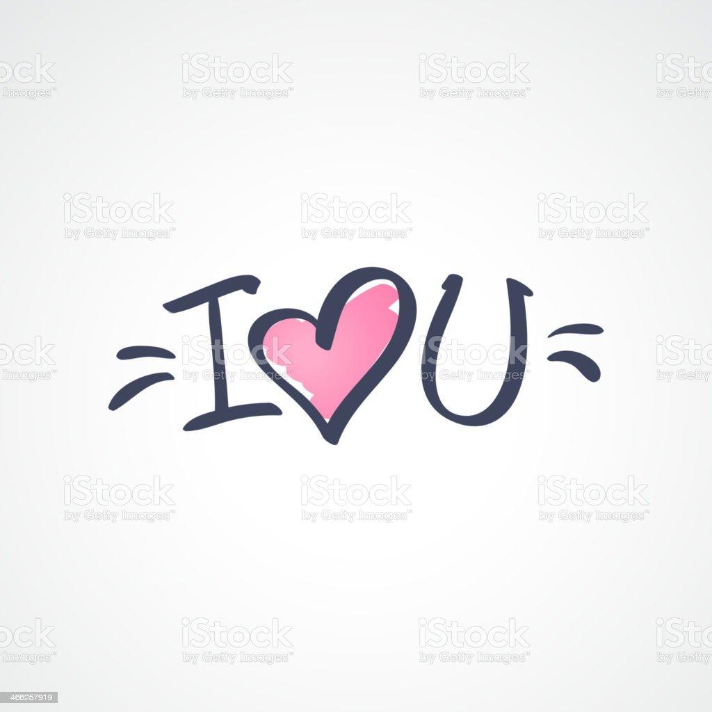 I Love You Text Stockvectorkunst En Meer Beelden Van Alfabet