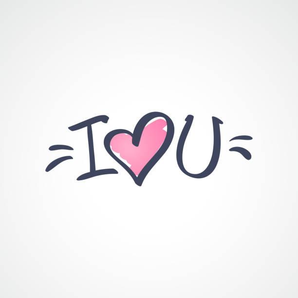 I Love You Korte Frase Illustraties En Vectorbeelden Istock