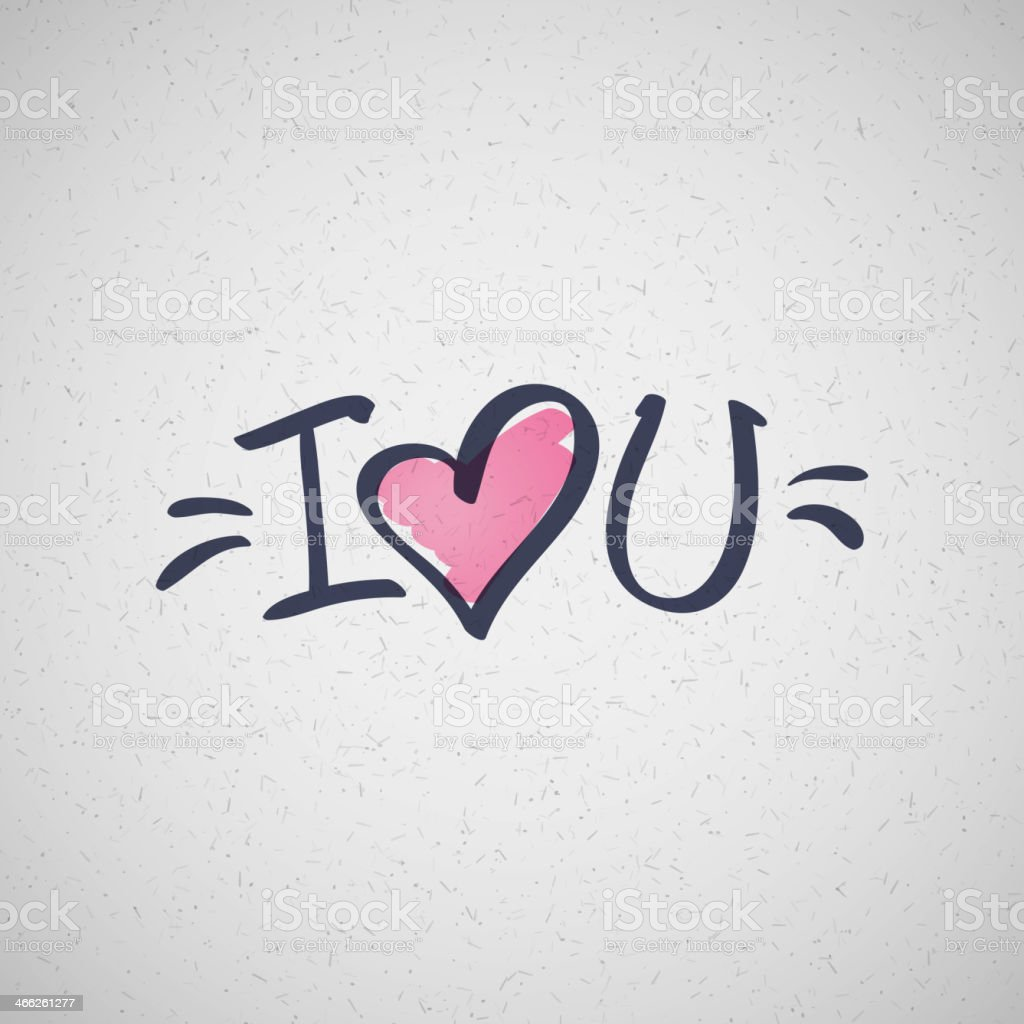 Download I Love You Text Stock Illustration - Download Image Now ...