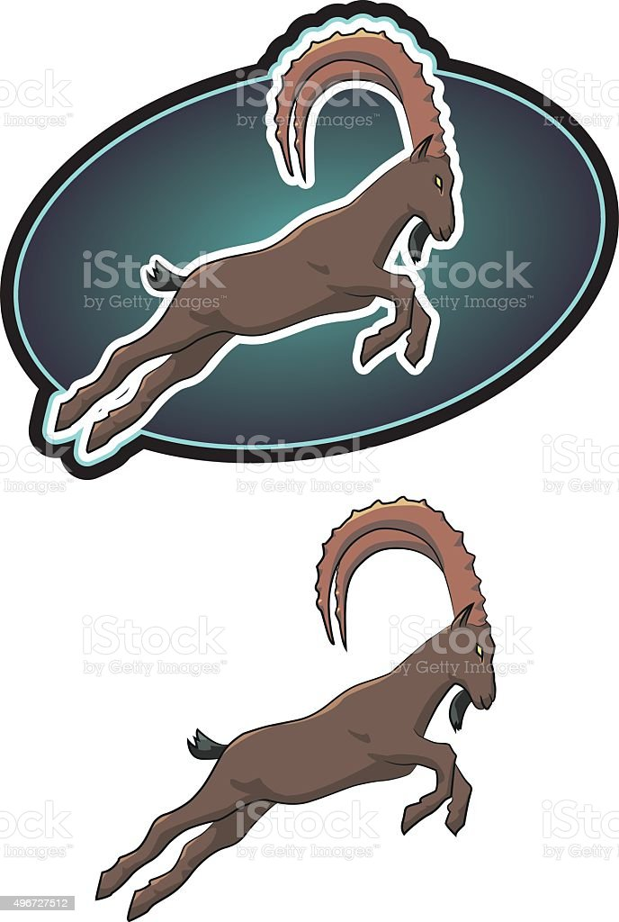 Ibex vector art illustration