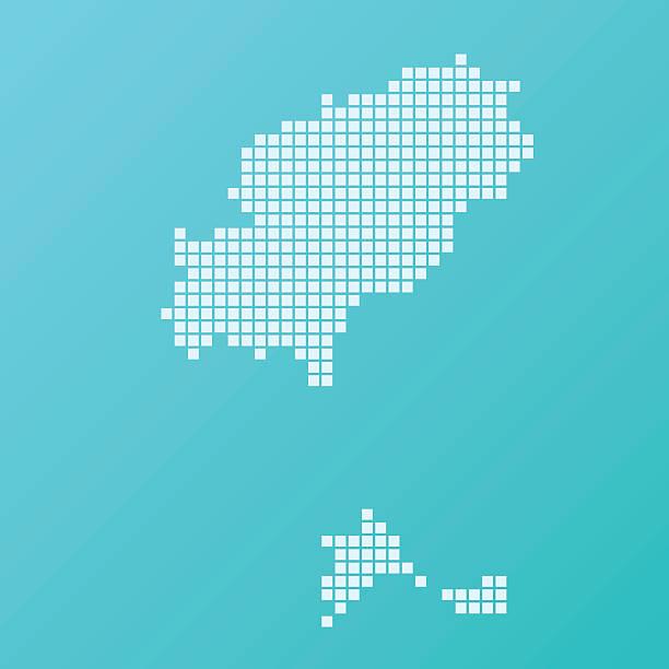ilustrações de stock, clip art, desenhos animados e ícones de mapa de ibiza fundo turquesa quadrado padrão - ibiza