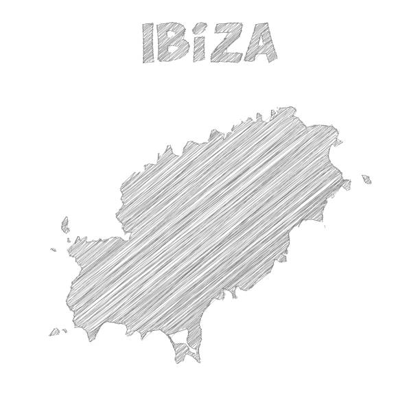 Ibiza Karte Umriss.Best Ibiza Space Illustrations Royalty Free Vector Graphics
