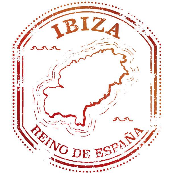 ilustrações de stock, clip art, desenhos animados e ícones de ibiza travel stamp - ibiza