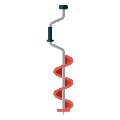 Ice Auger Icon on Transparent Background