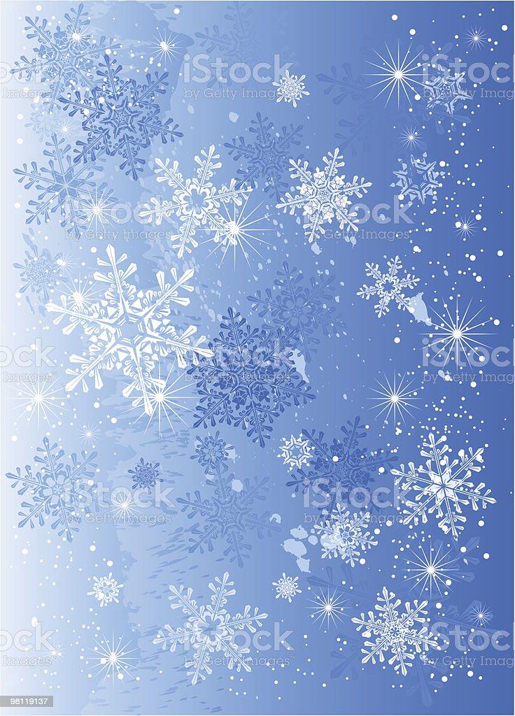 Sfondo di fiocchi di neve ghiaccio & sfondo di fiocchi di neve ghiaccio - immagini vettoriali stock e altre immagini di astratto royalty-free