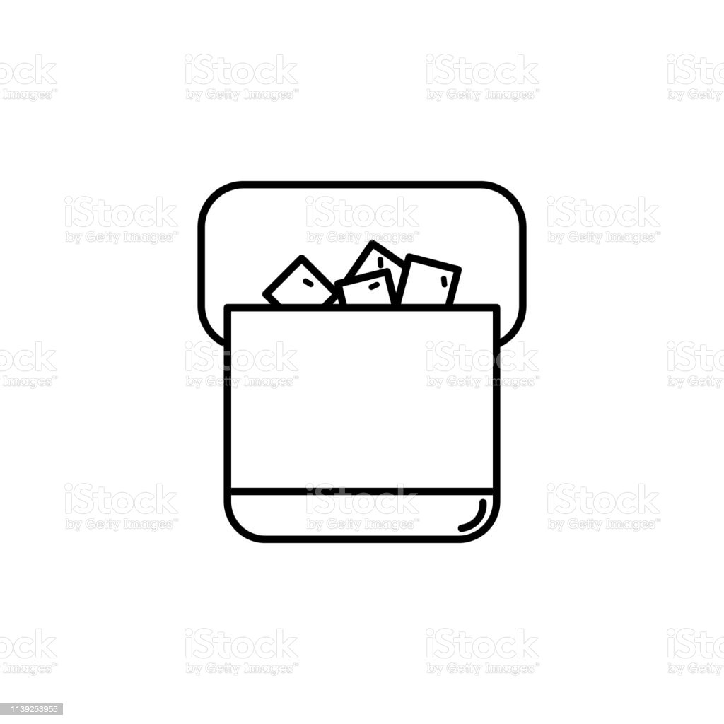 ice box icon. Element of drinks icon for mobile concept and web apps....