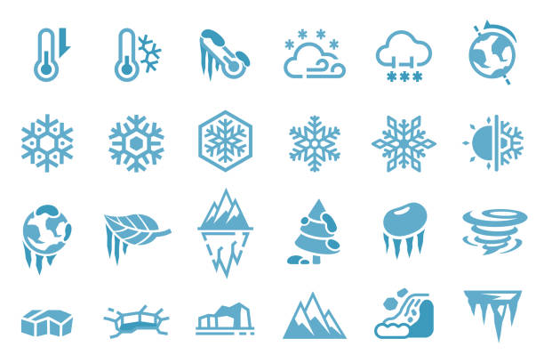 Ice caused by natural processes and seasons. Ice caused by natural processes and seasons. avalanche stock illustrations