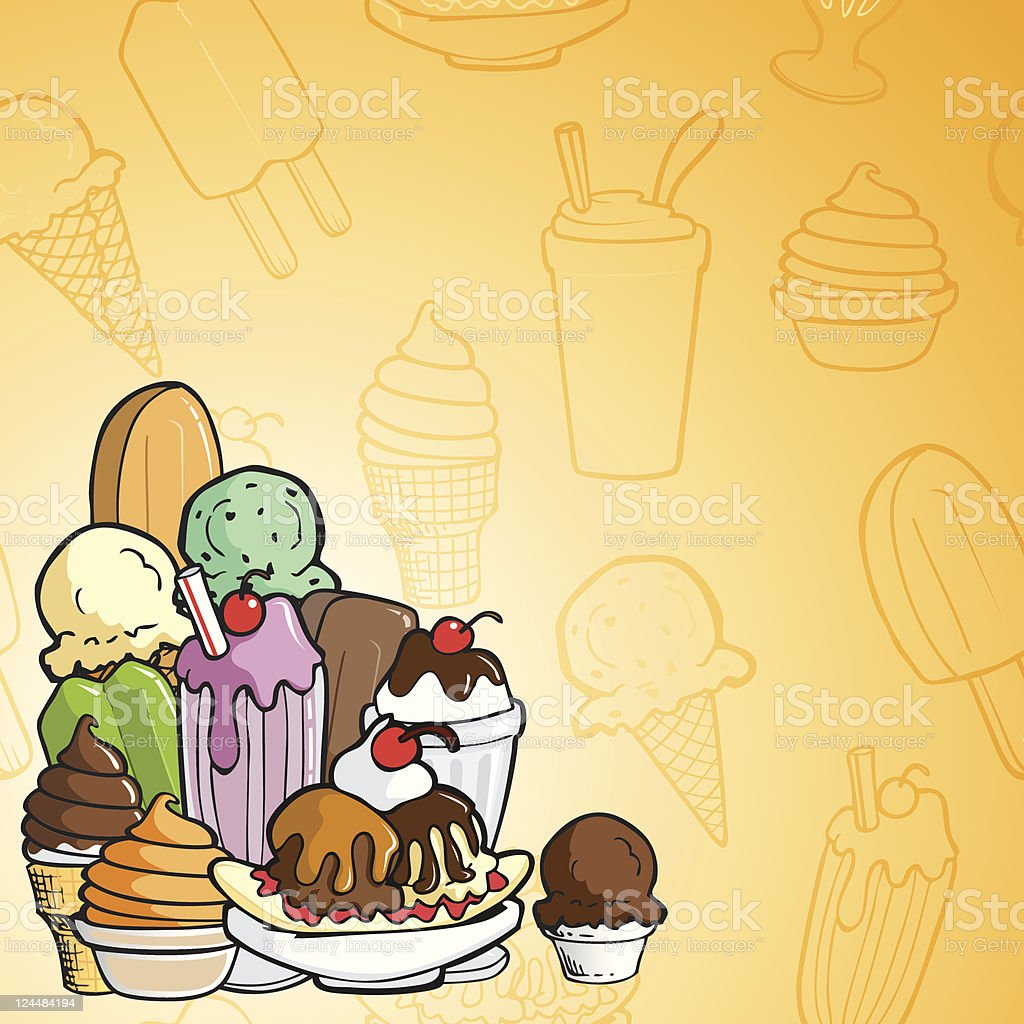 Ice Cream Images Ice Creams Wallpaper And Background: Ice Cream Background Stock Vector Art & More Images Of