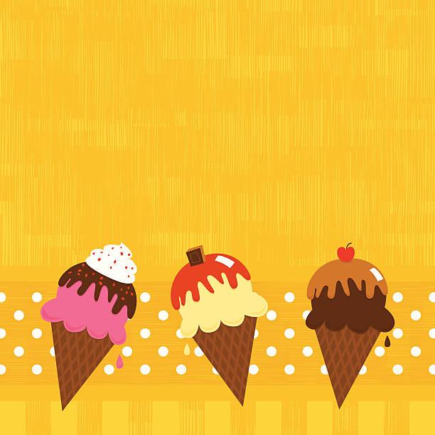 Ice cream background vector art illustration