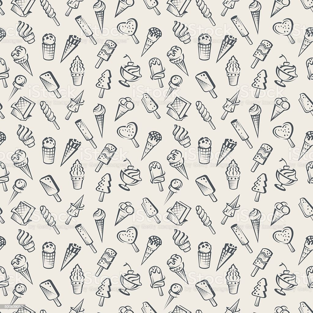 Ice Cream Background Stock Vector Art & More Images Of