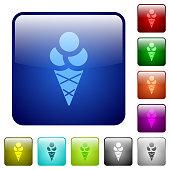 Ice cream color square buttons