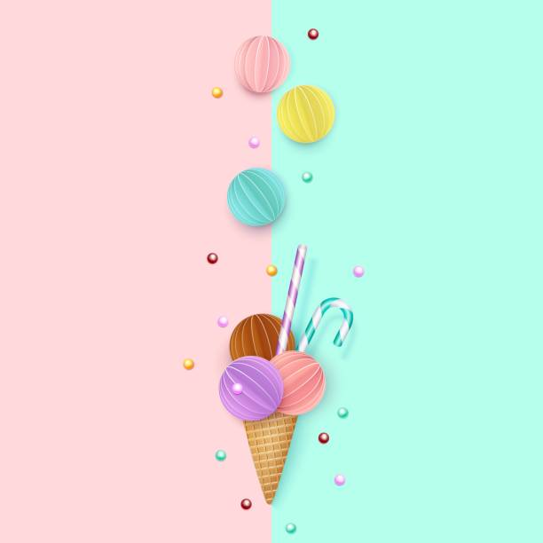Ice Cream Cones Background Royalty Free Vector Image: Royalty Free Ice Cream Stand Clip Art, Vector Images