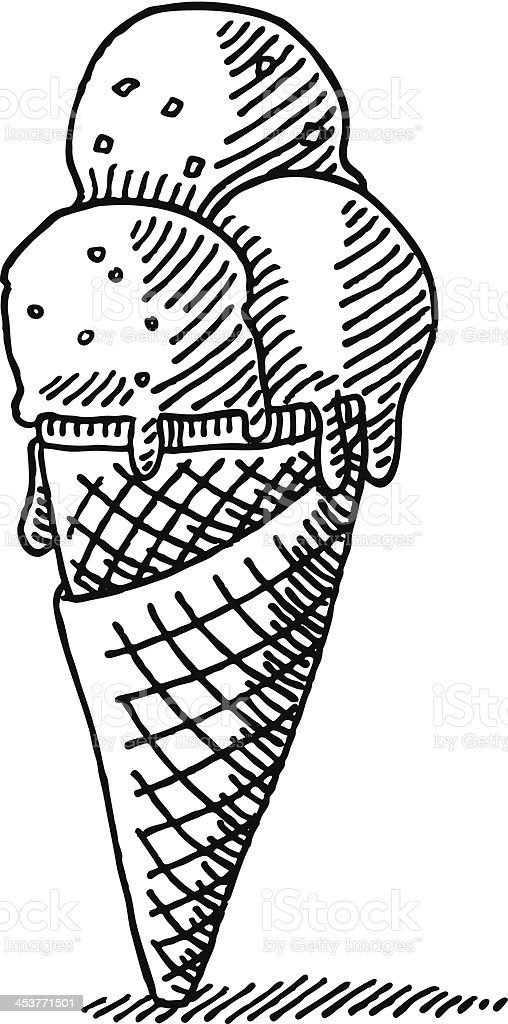 Ice cream cone vector black