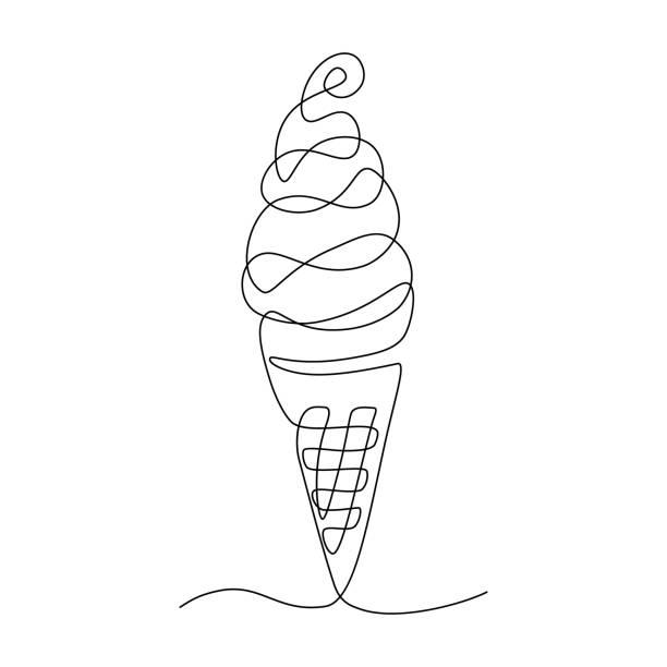 ilustraciones, imágenes clip art, dibujos animados e iconos de stock de cono de helado - ice cream cone