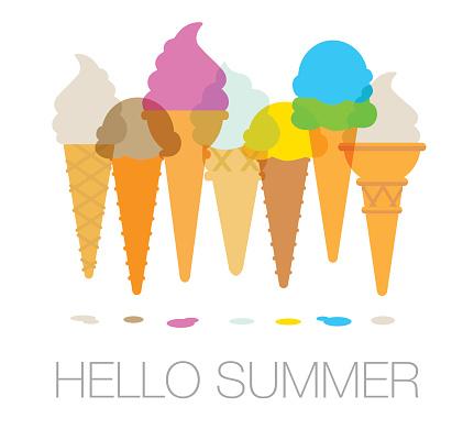 Ice cream cornets or cones