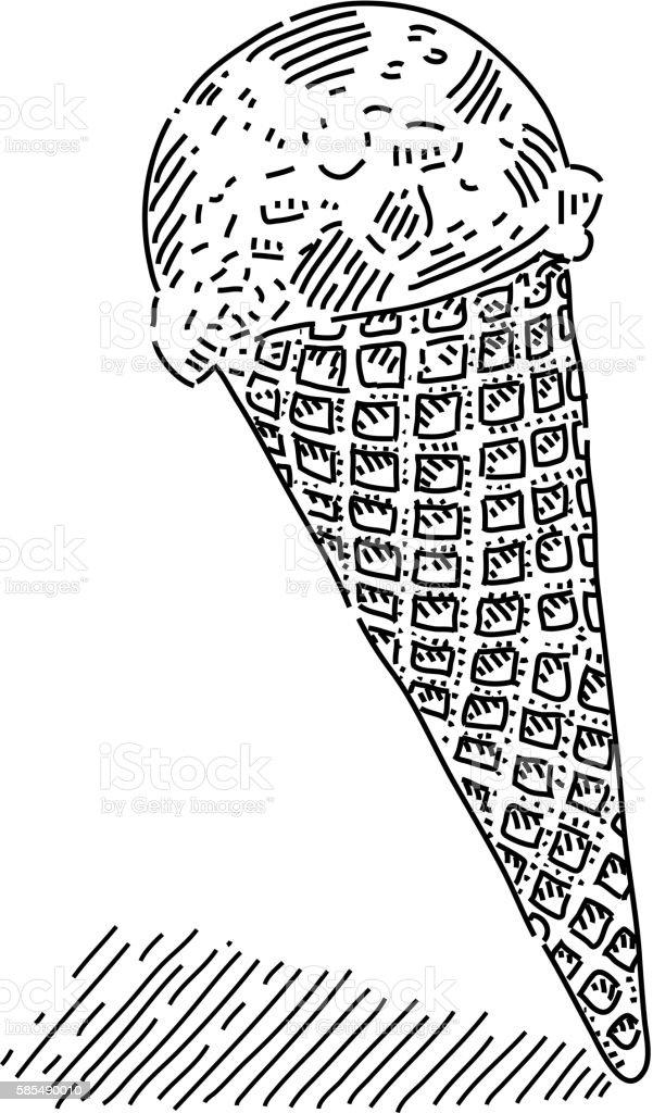 Ice Cream Drawing Stock Vektor Art Und Mehr Bilder Von