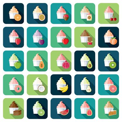 Ice Cream Flavors Icon Sets
