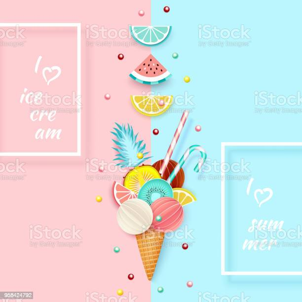 Ice cream fruit 3d pastel abstract background with ice cream cone vector id958424792?b=1&k=6&m=958424792&s=612x612&h=lpjmep2uj6ia4kwn5o8y1p4npgniwvbfz 1 lhaauhi=