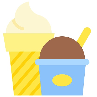 Ice cream icon, Supermarket and Shopping mall related vector