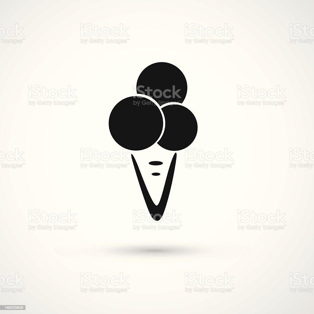 Ice Cream icon royalty-free stock vector art