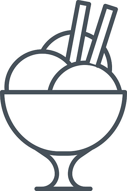 eis-symbol - speiseeismaschine stock-grafiken, -clipart, -cartoons und -symbole