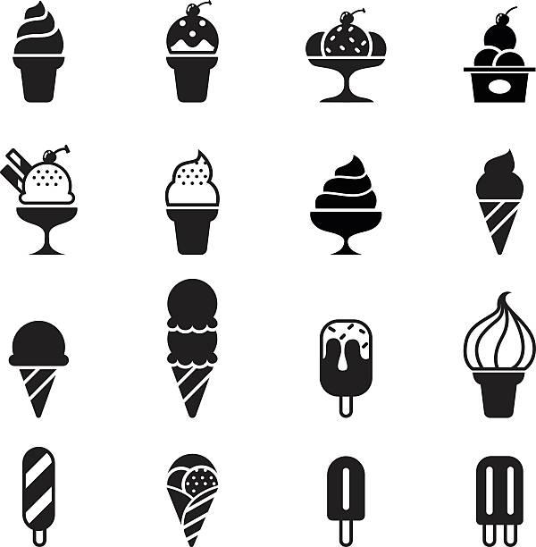 아이스크림 아이콘크기 - ice cream stock illustrations