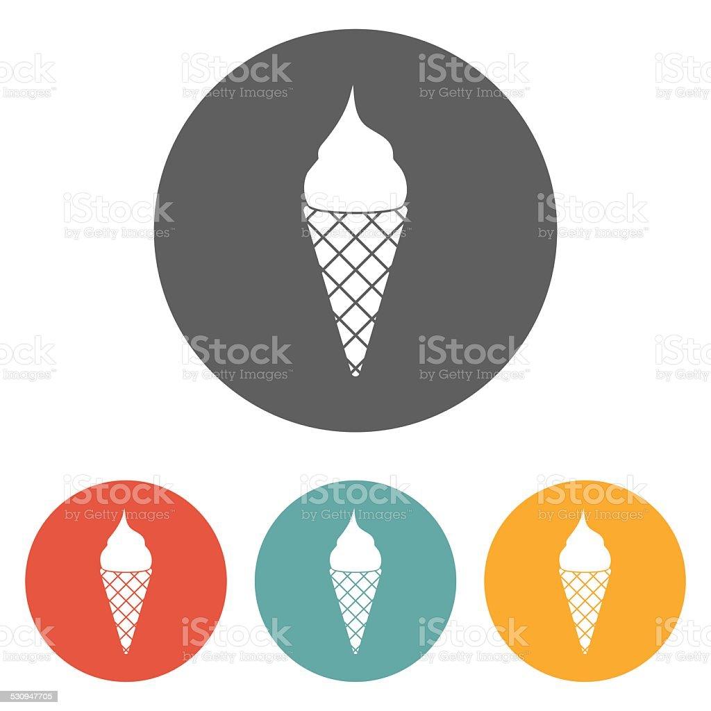 ice cream icon vector art illustration