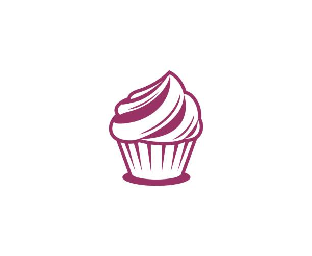 ice cream icon - cupcake stock illustrations, clip art, cartoons, & icons