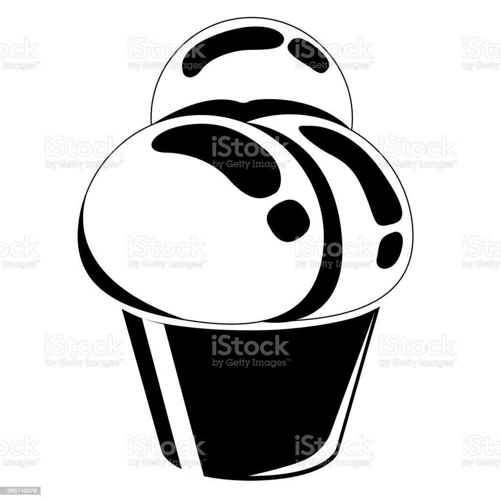 Ijs-pictogram - Royalty-free Aardbei vectorkunst
