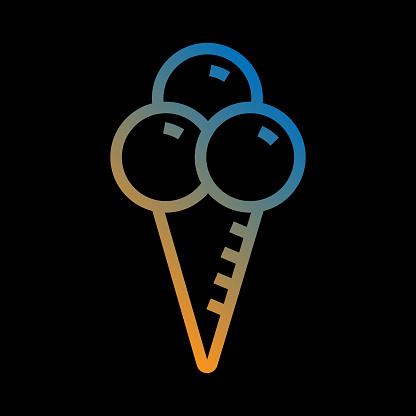 Ice Cream Line Icon, Outline Vector Symbol