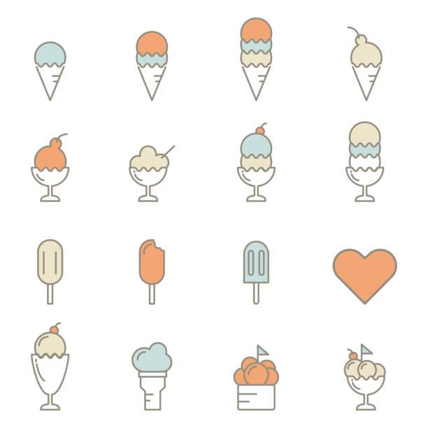 ice cream line icon vector illustration ice cream line icon vector illustration ice cream sundae stock illustrations