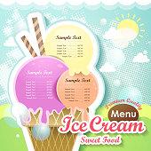 ice cream menu cover
