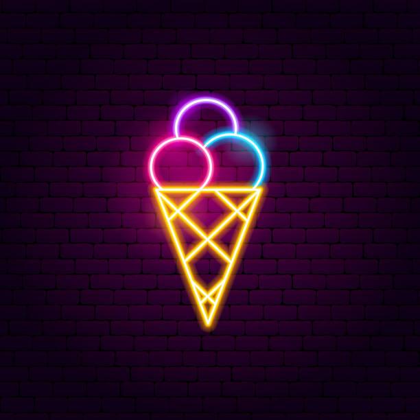 stockillustraties, clipart, cartoons en iconen met ijs lichtreclame - bevroren voedsel