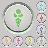 Ice cream push buttons