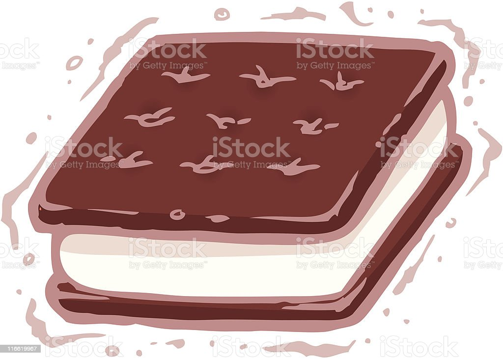 Ice Cream Sandwich royalty-free ice cream sandwich stock vector art & more images of chocolate